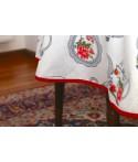 Mantel rectangular de tela repelente para líquidos con forro impermeable incorporado Diseño Juego de Té
