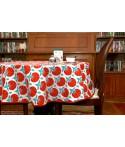Mantel redondo de tela repelente para líquidos con forro impermeable incorporado Diseño Floral Imperial
