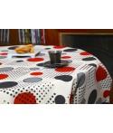 Mantel redondo de tela repelente para líquidos con forro impermeable incorporado Diseño RANDY