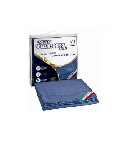 Calientacama Scaldasonno matrimonial modelo jeans 150x140 cms