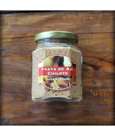 Pasta de ajo chilota con picante Merkén