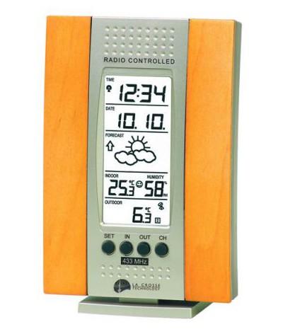 Estación Meteorológica WS7014 Plata Madera