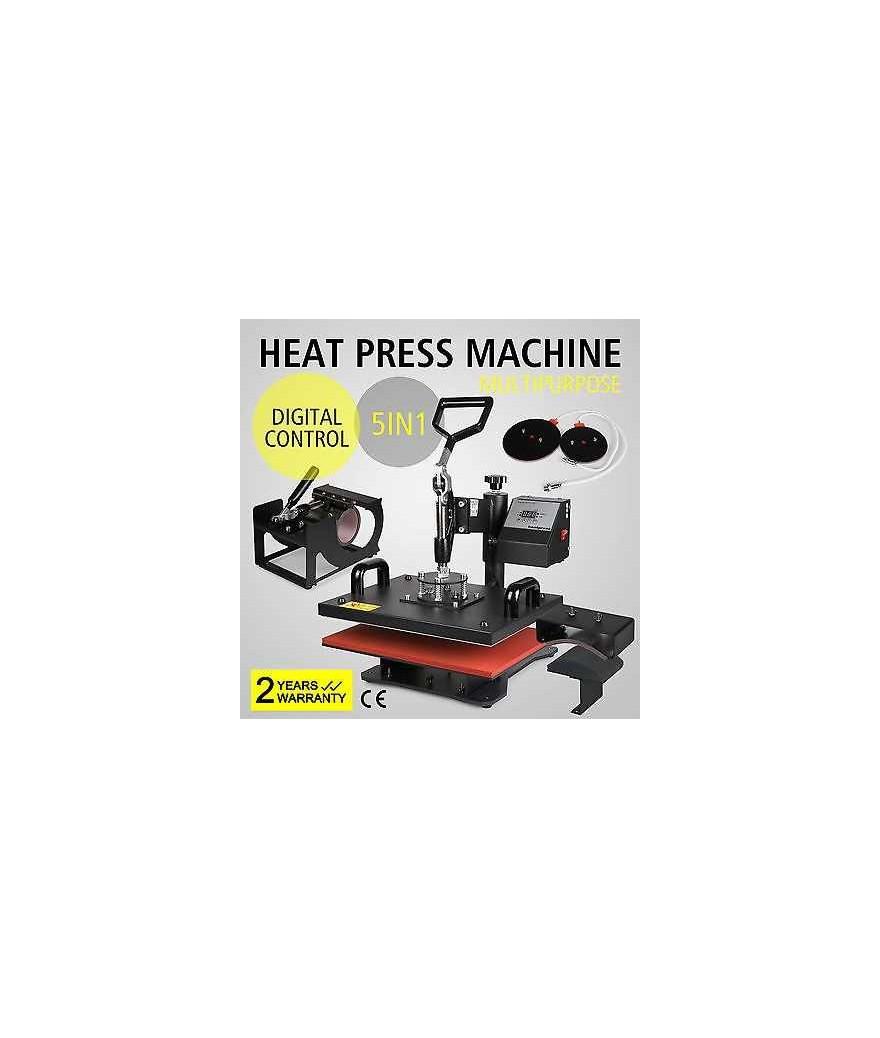 5 en 1 máquina de la prensa del calor Digital Transfer sublimación