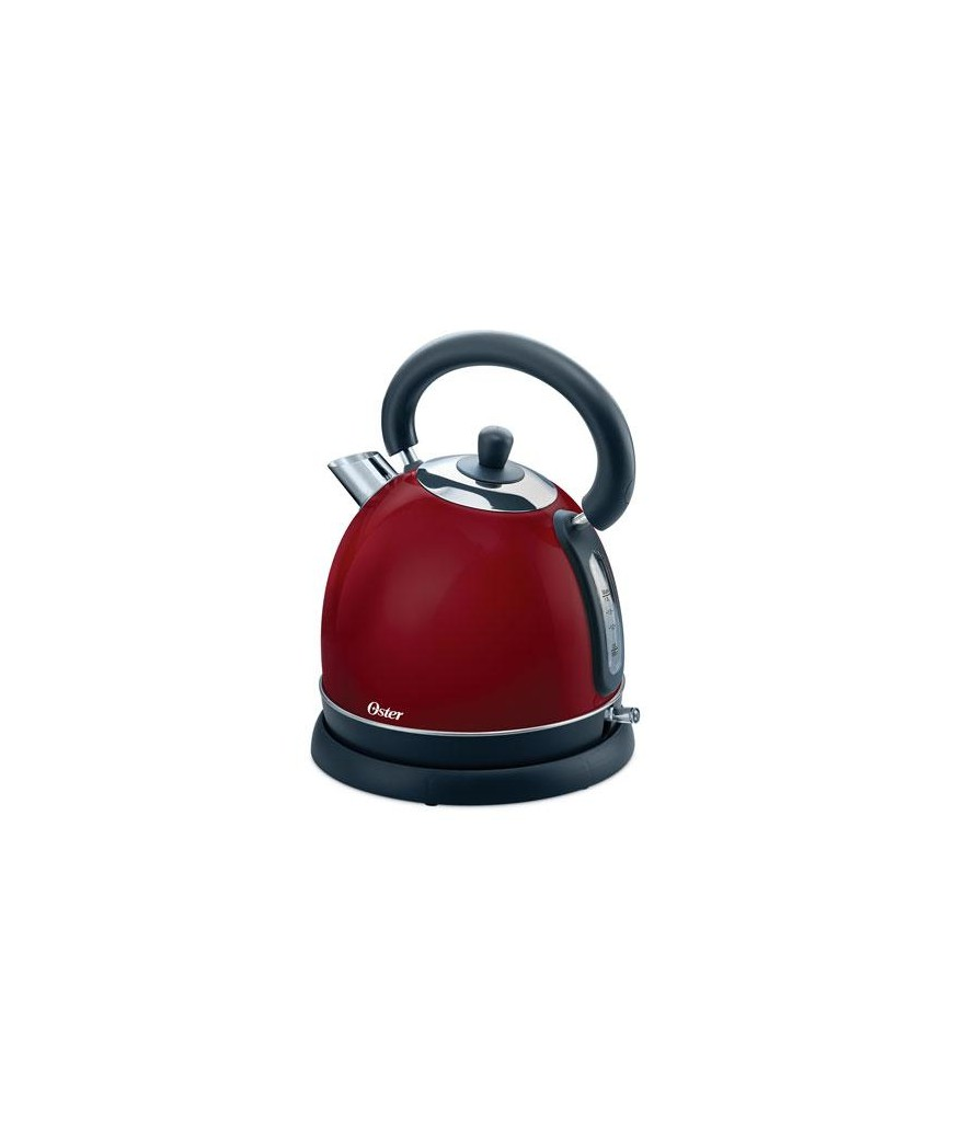 Hervidor vintage tetera eléctrica roja. Oster