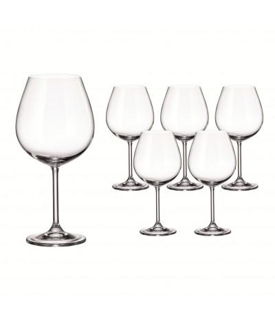 Set 6 copas Vino tinto Burgundy