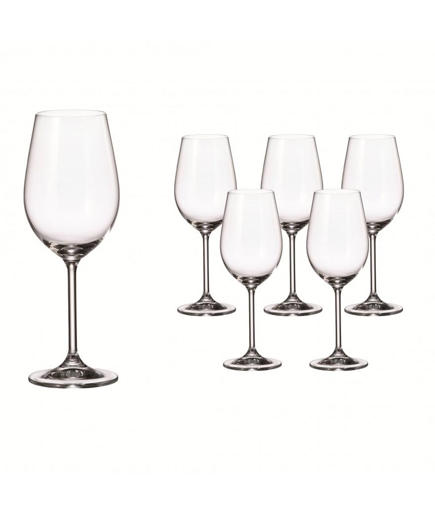 Set 6 copas Vino Blanco