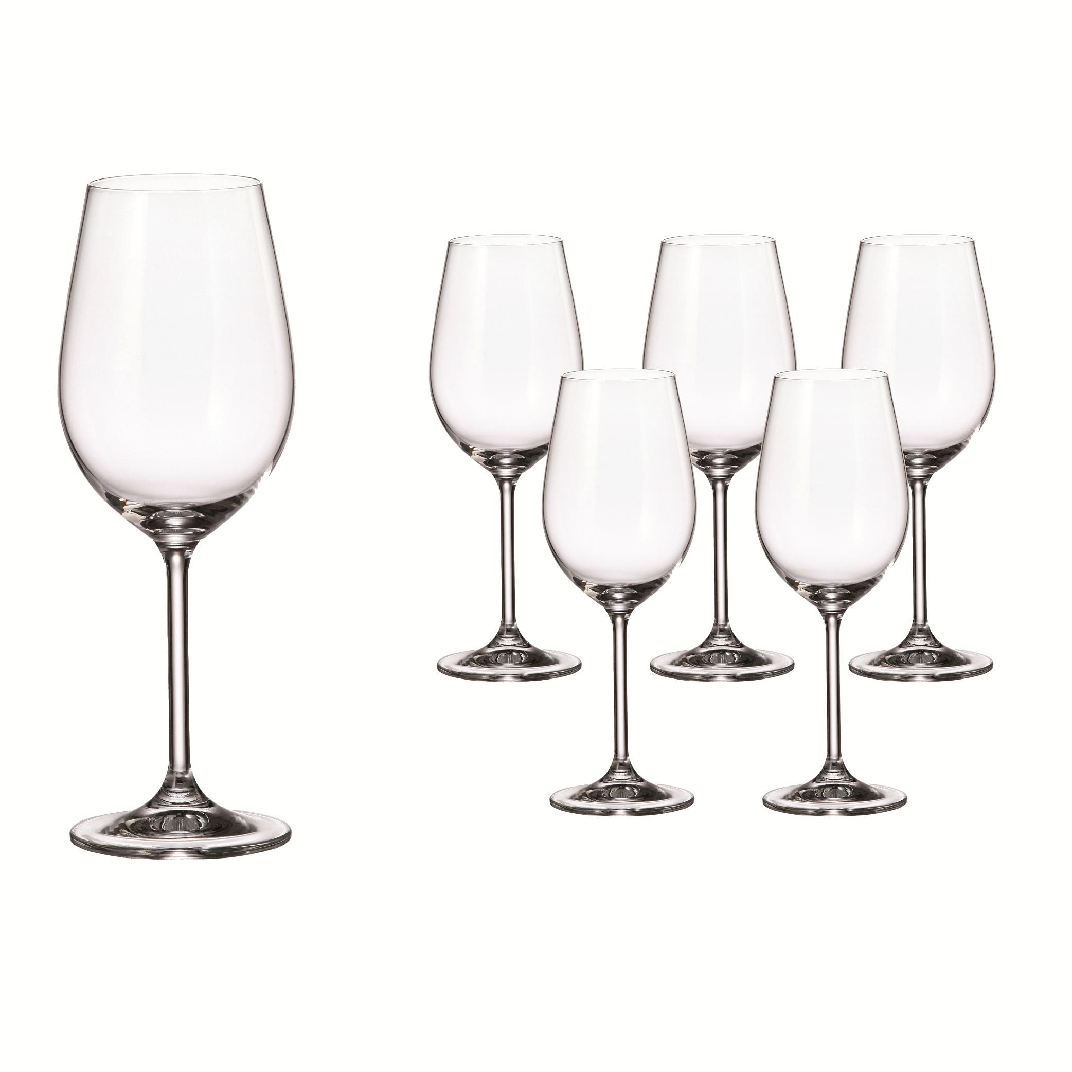 SET 6 COPAS DE VINO BLANCO Cristal de Bohemia