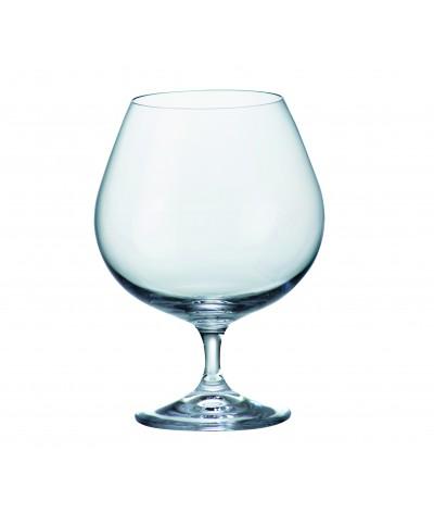 SET 6 COPAS COGNAC de Cristal de Bohemia