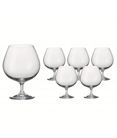 Set 6 copas Cognac