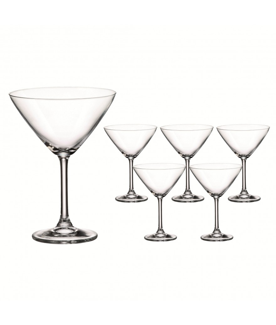Set 6 copas Martini