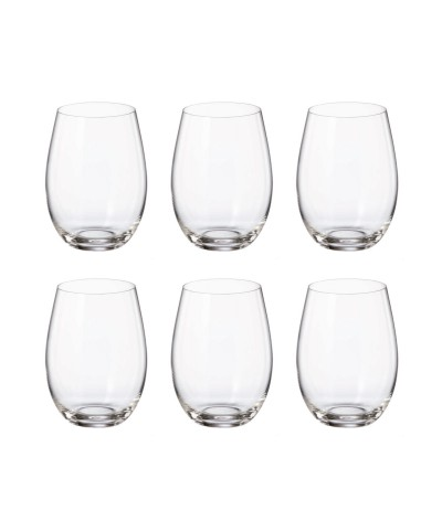 Set 6 Vasos Cristal