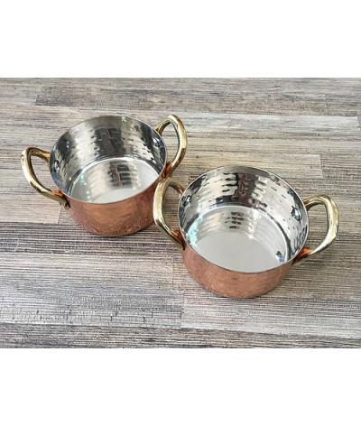 2 cacerolas de cobre