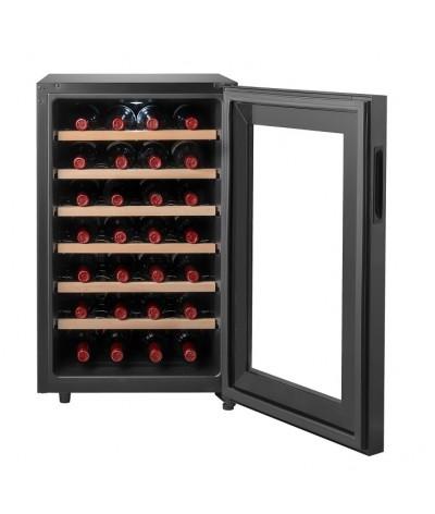 Cava de vinos negra 28 botellas Climadiff CC28