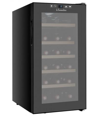 Cava de vinos negra 18 botellas La Sommeliere LS18CB - Fullmundo tienda en línea