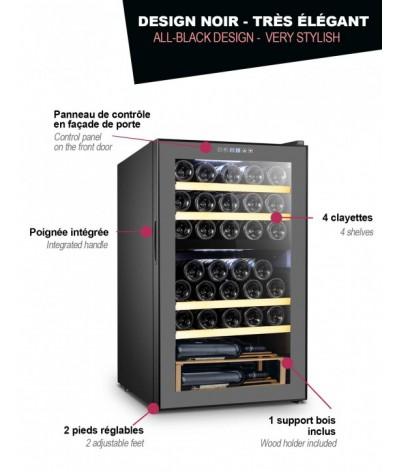 Cava para vinos negra 33 botellas La Sommeliere SLS33DZ