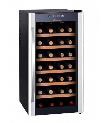 Cava para vinos negra 28 botellas La Sommeliere LS28KB - Fullmundo