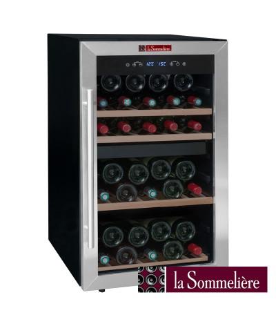 Cava para vinos negra 49 botellas La Sommeliere LS50.2Z - Fullmundo