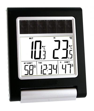 Termómetro e higrómetro digital WS6010 SOLAR Blanco con Negra