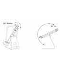 Porta tableta metalica con sistema anti robo Reflecta 23227