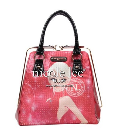 Cartera Nicole Lee Print Frame Red