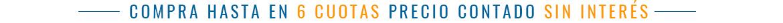 6 cuotas precio contado - Fullmundo tienda en línea